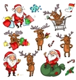 Christmas characters - set vector image vector image