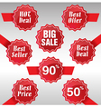 Best Deal Best Price and Discount Tags vector image