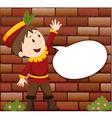 Little boy with speech bubble vector image