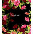 spring colorful floral background vector image vector image