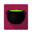 cauldron witches potion for Halloween vector image