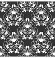 Elegant damask dark seamless background vector image