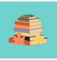 flat icon on stylish background stack of books vector image