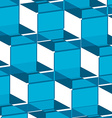 ornate background blue squares vector image