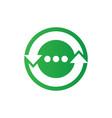 recycle arrow logo image vector image