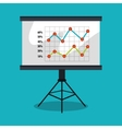 statistics in training board isolated icon design vector image