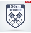 Vintage Motor Service Signs and Label vector image