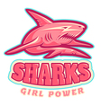 shark pink vector image