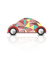 abstract polygonal beetle car vector image