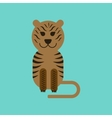 flat icon on background cartoon tiger vector image