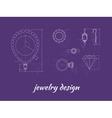 Jewelry Design Banner vector image