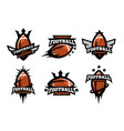 american football set of logos vector image vector image