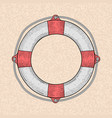 lifebuoy hand drawn sketch vector image