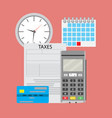 time pay tax vector image