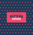 red and blue triangle pattern background vector image