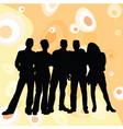 young people retro background vector image