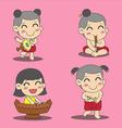 Thai Children 3 vector image
