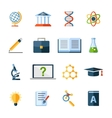 science flat icons set vector image vector image