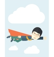 Superhero businessman vector image