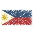 Philippines grunge flag vector image
