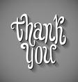 Thank You 3D hand written volumed signature vector image