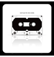 audio tape cassette isolated on white vector image vector image