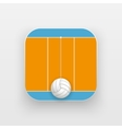 Square icon of volleyball sport vector image