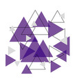 abstract purple triangle banner background vector image