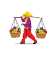 Asian Vendor Cartoon vector image