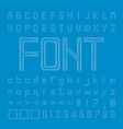 Circle Font Design Pixcel Alphabet vector image