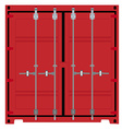 Container front or back view vector image