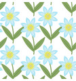 cute blue flowers seamless pattern spring floral vector image