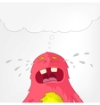 Funny Monster Cry vector image