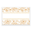 greeting card with flowers and buds of roses vector image