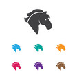 of casino symbol on horse icon vector image