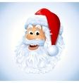Santa Claus face vector image