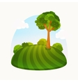 Tree rings Watercolour vector image