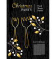 Christmas party template with gold decoration vector image vector image