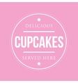 Cupcakes vintage stamp vector image