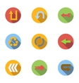 Types of arrows icons set flat style vector image