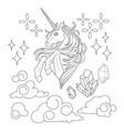 cute graphic unicorn vector image vector image