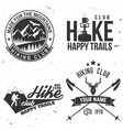 set of extreme adventure badges vector image