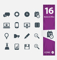 Office Media icons vector image vector image