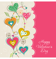 Template Valentine greeting card vector image