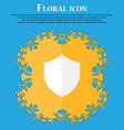 Shield Protection Floral flat design on a blue vector image