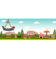 Amusement park with many rides vector image