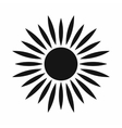 Sun icon simple style vector image vector image