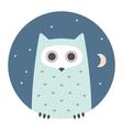 Animal set Portrait in flat graphics - Owl vector image