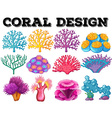 Different kind of coral design vector image