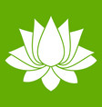 lotus icon green vector image